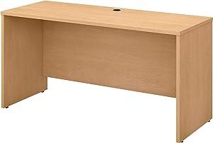 Bush Business Furniture Studio C Credenza Desk, 60W x 24D, Natural Maple
