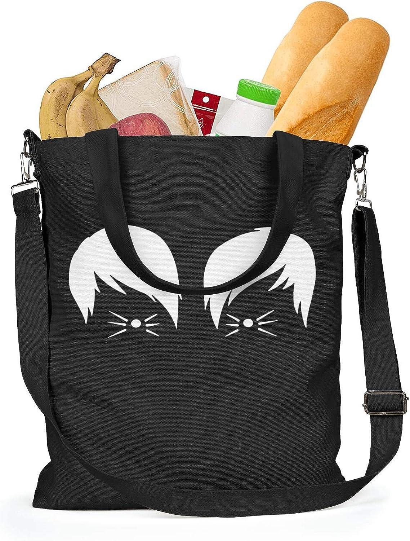 Womens Canvas Grocery Tote Handbags Casual CrossBody Shoulder Bag Rock Music Group symbol Eco-friendly Shopping Hobo bag