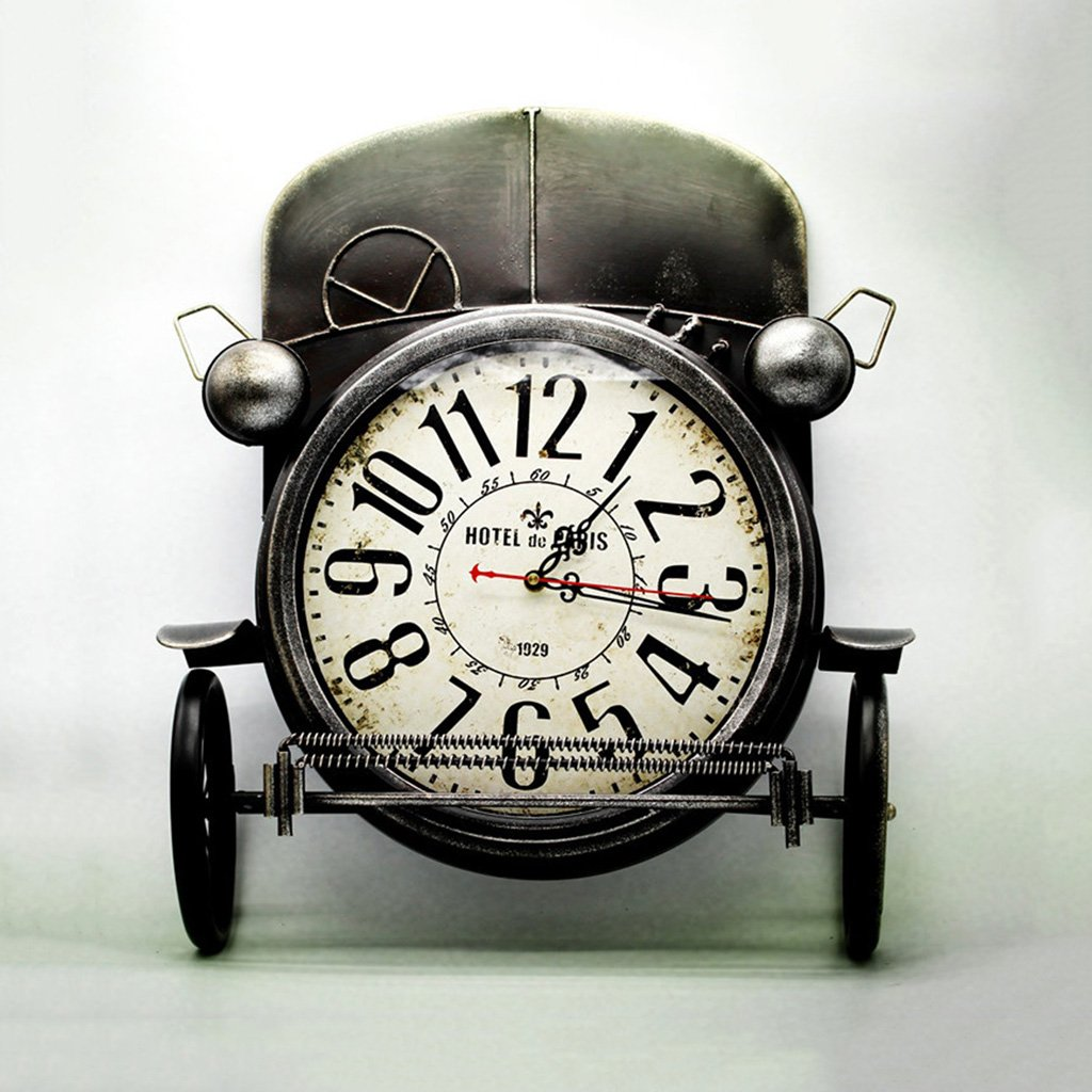 Amazon.com: Retro American Style Creative Iron Craft Locomotive Wall Clock Living Room Bedroom Personalized Decorative Clock (Color : Black): Home & Kitchen