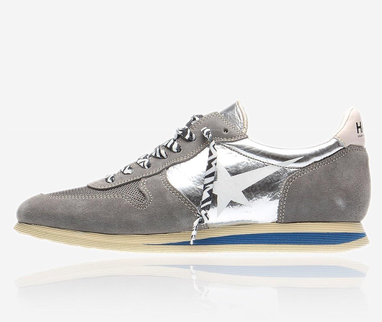 (ゴールデン グース) Golden Goose ハウススワンランニングシューズグレー&シルバー メンズ シューズ靴 スニーカー H30MS363 A6 [並行輸入品] B079ZVPYC3