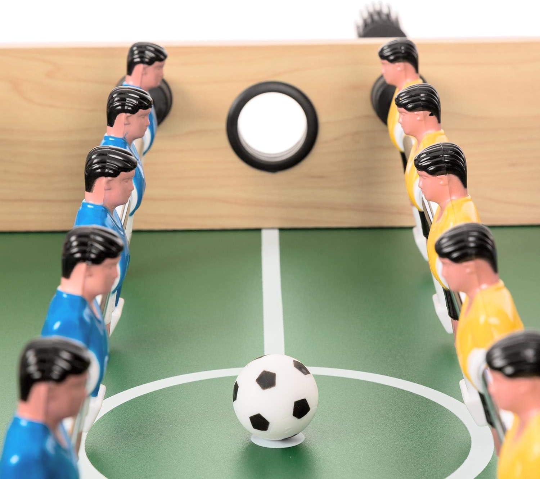 Oneconcept Game-Star Futbol/ín Mesa de Juegos Reglas de Juego detalladas Medidas: 105 x 71 x 58 cm Patas de la Mesa con Altura Regulable Mesa multifunci/ón