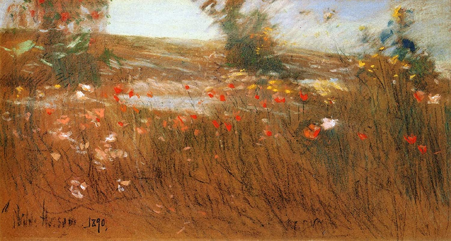 Isles of Shoals Garden by Childe Hassam Giclee Fine ArtPrint Repro on Canvas
