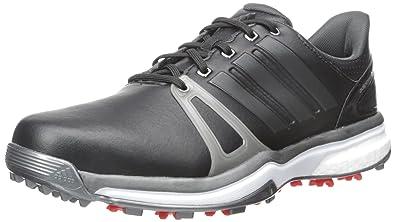 Adidas Adipower Boost 2 Wd Golf con listones, Core Negro / Plata oscura Metallics05 / rojo, 8 W con