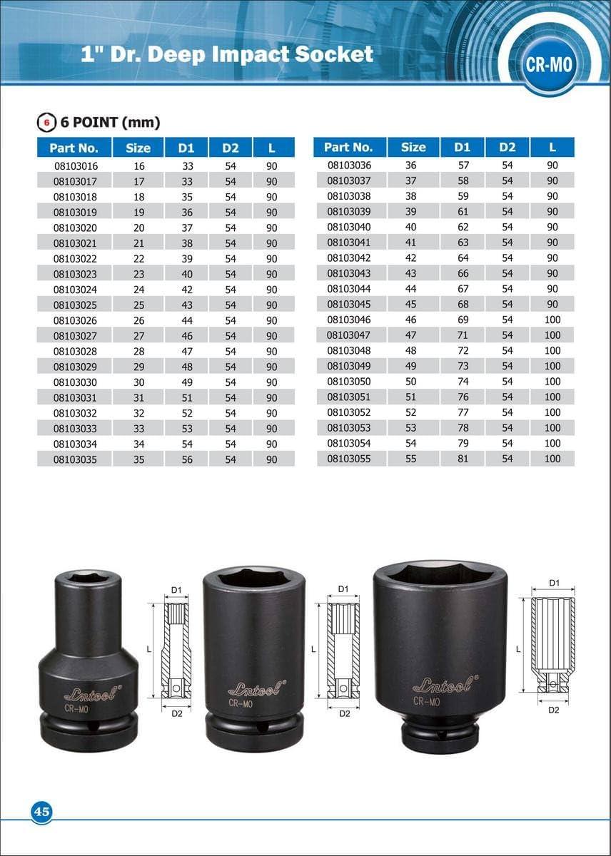 mobarel 1 Drive 6 Point Deep Impact Socket 42mm