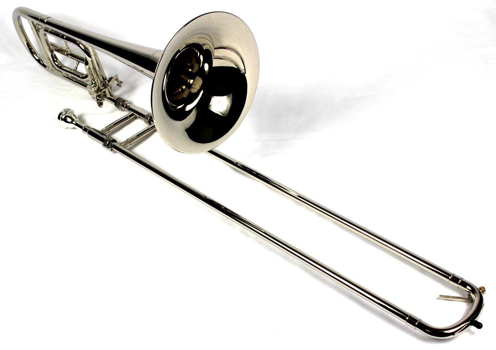 Brand New Bb/F Tenor Trombone w/ Case and Mouthpiece- Nickel Plated Finish by Moz (Image #3)