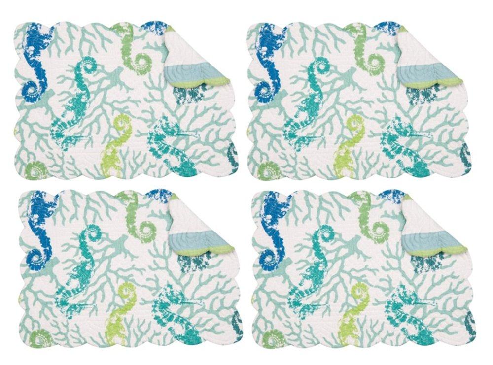 CとFのセット4 Ocean Life AquariusシリーズCoral and Seahorses 13 x 19