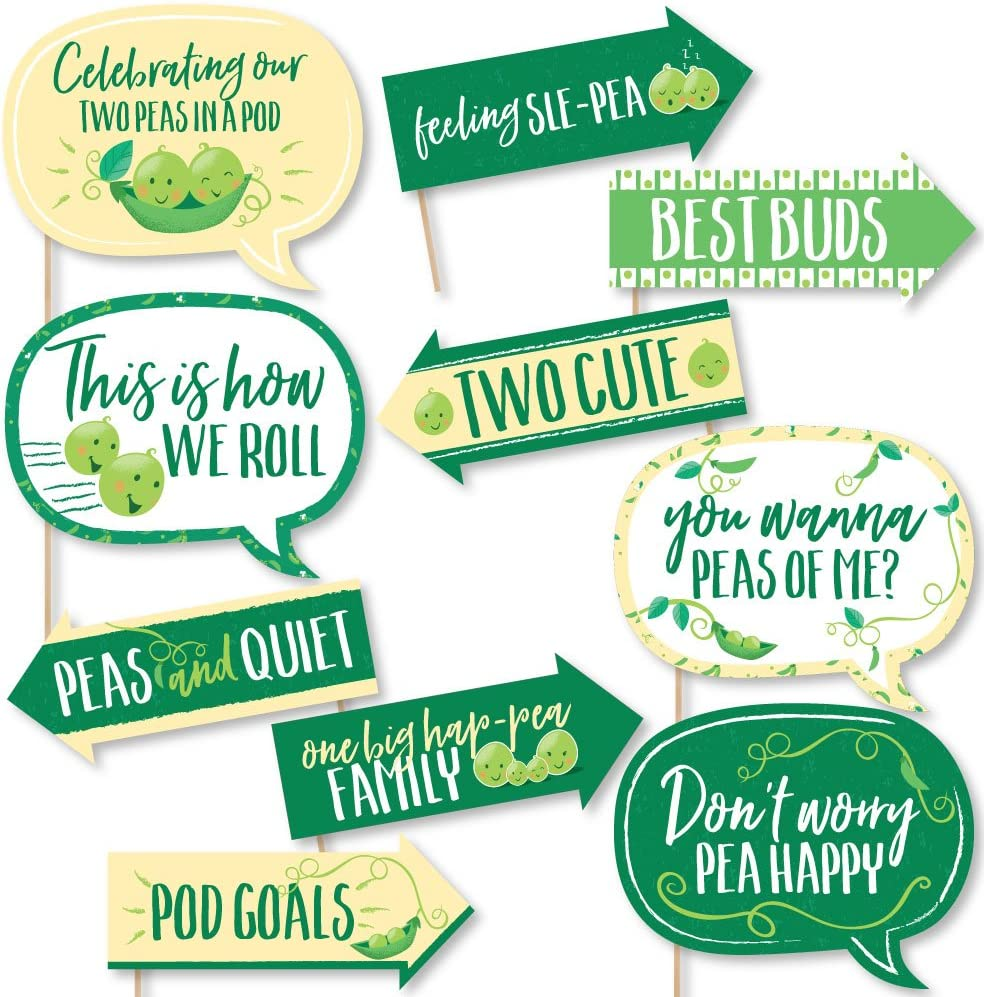Sweet Pea Pod Banner Decor Twins Two Peas In A Pod Personalized Banner Double the Fun Baby Shower Banner Decorations Birthday Banner