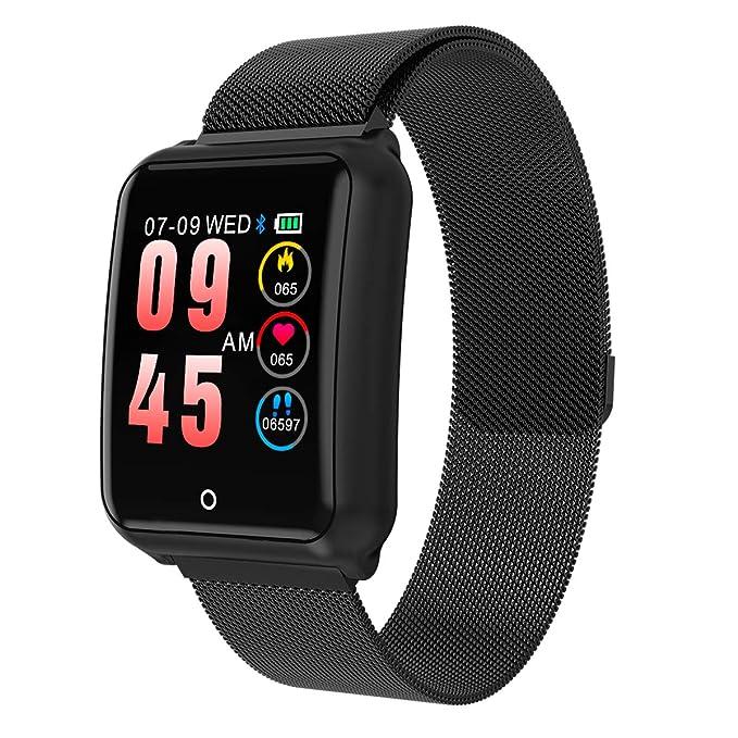 GOKOO Smartwatch Hombre Relojs Inteligente IP67 Impermeable Reloj Deportivo con Cronómetro Monitor de sueño Podómetro Calendario Control Remoto de música ...