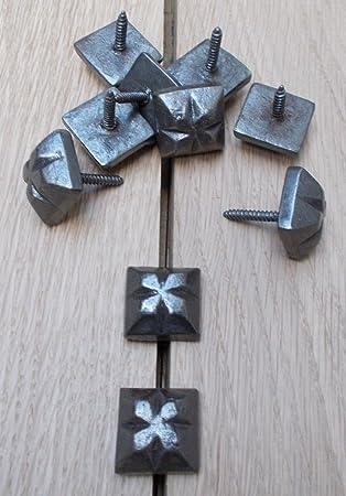 Black Iron Antique Tudor Style Door Studs 23mm 10pcs