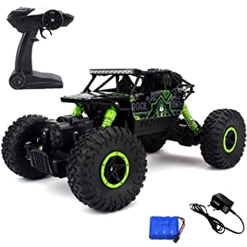 Buy Mousepotato 1 18 4wd Rally Car Rock Crawler Off Road Race Monster Truck Online At Low Prices In India Amazon In