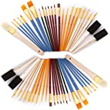 S & E TEACHER'S EDITION Paint Brushes Set 50 Pcs, Art Supplies for School Students, Multi Color.