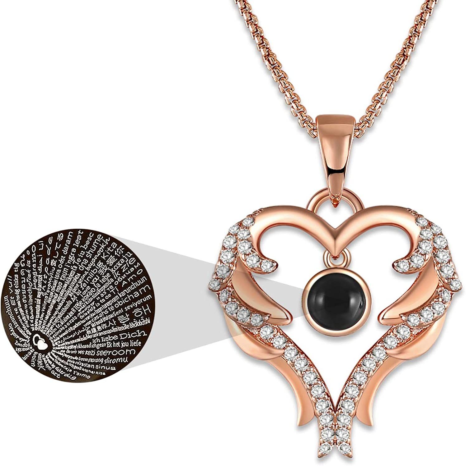 GEORGE · SMITH Rose Gold Love Heart Pendant Necklace 100...
