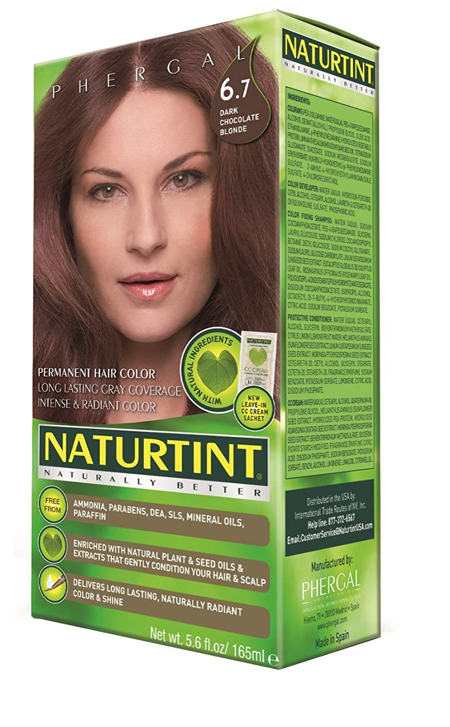 Amazon.com : Naturtint Permanent Hair Color - 6.7 Dark Chocolate ...
