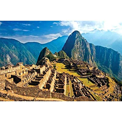 MOMFEI Puzzle 1000 Piece Jigsaw Puzzle for Adults San Francisco Trolley Every Piece is Unique,Pieces Fit Together Perfectly (Machu Picchu): Kitchen & Dining