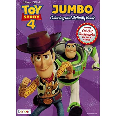 Toy Story 4 Jumbo Coloring and Activity Book, 80 Page, Pack of 2: Toys & Games