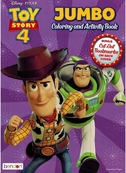 Amazon.com: Toy Story 4 Jumbo Coloring And Activity Book, 80 Page, Pack Of  2: Toys & Games