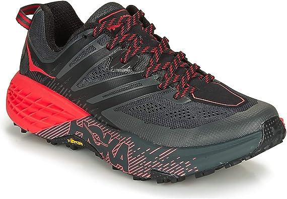 HOKA ONE One Speedgoat 3 Deportivas Femmes Gris/Rojo Running/Trail: Amazon.es: Zapatos y complementos