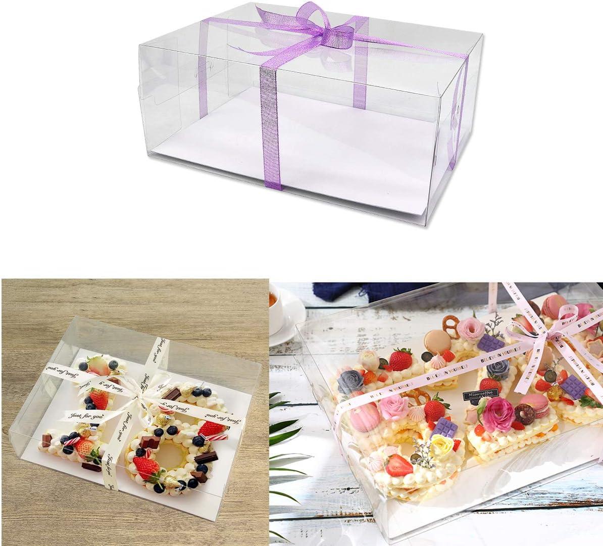 Poitemsis - Caja de plástico transparente para tarta de cumpleaños ...
