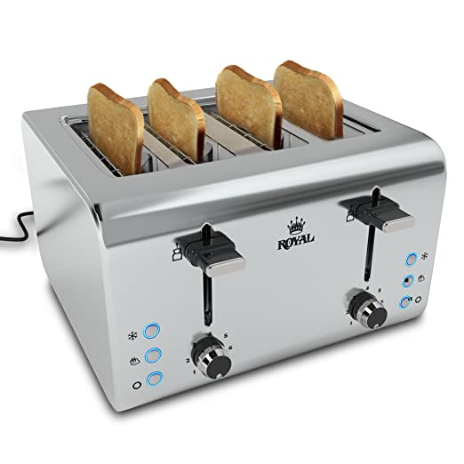 Royal RYL-TOASTER 850 Watts Stainless Steel 4-Slice Toaster Review