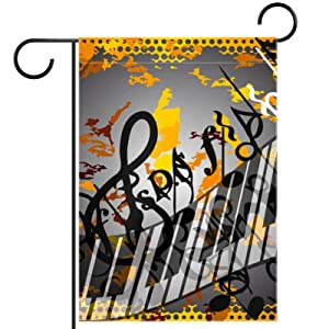 Garden Flag 28x40 inch,Autumn melody notes,Yard Flag with Double Sided for Outside Farmhouse Patio Lawn Outdoor Home Decoration Gift