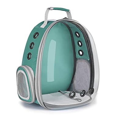 Keedo Pet Cat Dog Puppy Carrier Travel Bag Space Capsule Transparent Backpack Breathable 360° Sightseeing Airline Approved