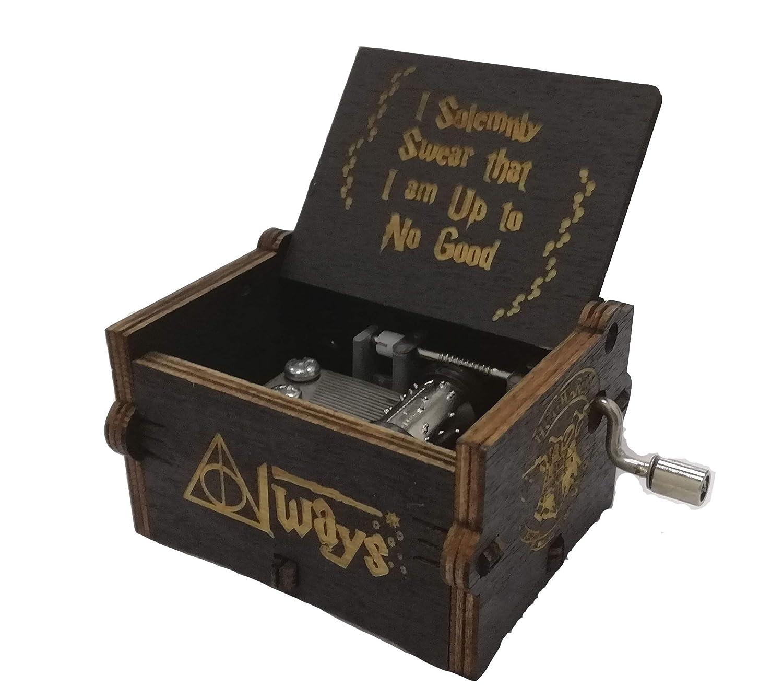 Caja de música de madera tallada antigua: Regalo de Harry Potter (Black): Amazon.es: Hogar