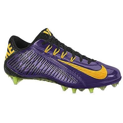 buy online b7e17 33f73 NIKE Vapor Carbon Elite TD Mens Football Cleats, Purple/Black/Yellow, 13  D(M) UK/48 D(M) EU: Amazon.co.uk: Shoes & Bags