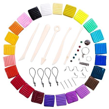 Arcilla Polimérica 24 Colores,DIY Colorful Arcilla Bloques Horno ...