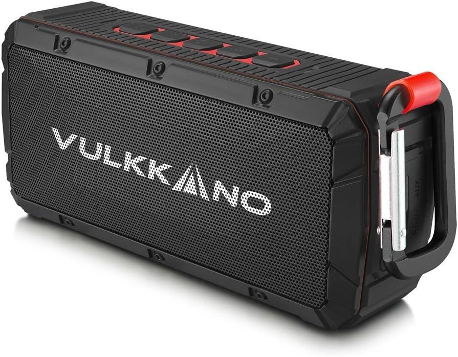 VULKKANO Bullet Altavoz Bluetooth portátil resistente agua, arena y golpes. 10W potencia y ultra-compacto. Altavoz inalámbrico portátil para iPhone, Android, Pc, TV, etc..