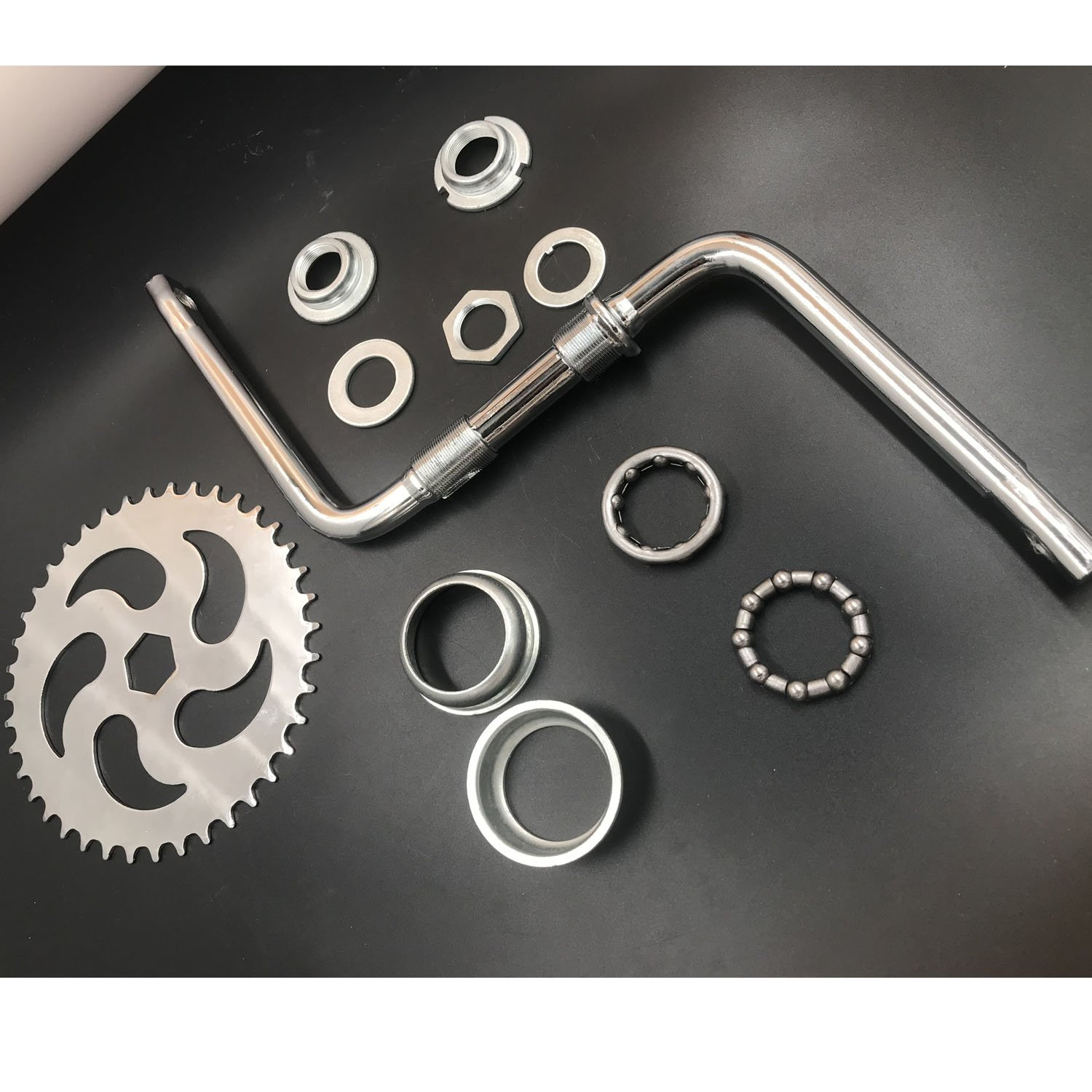 "dolphin1986 2""Cup Wide Pedal Crank Kit, One-Piece Crank, for 2- Stroke Motor,Gas Motorized Bicycle"