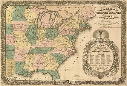 Amazon.com: 1858 Railroad map eastern half of the United ...