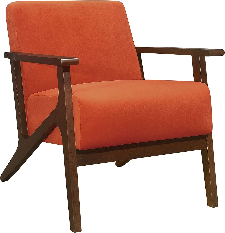 Amazon Com Lexicon Socorro Accent Chair Orange Furniture Decor