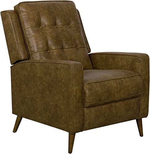 HomePop Modern Faux Leather Recliner Accent Chair