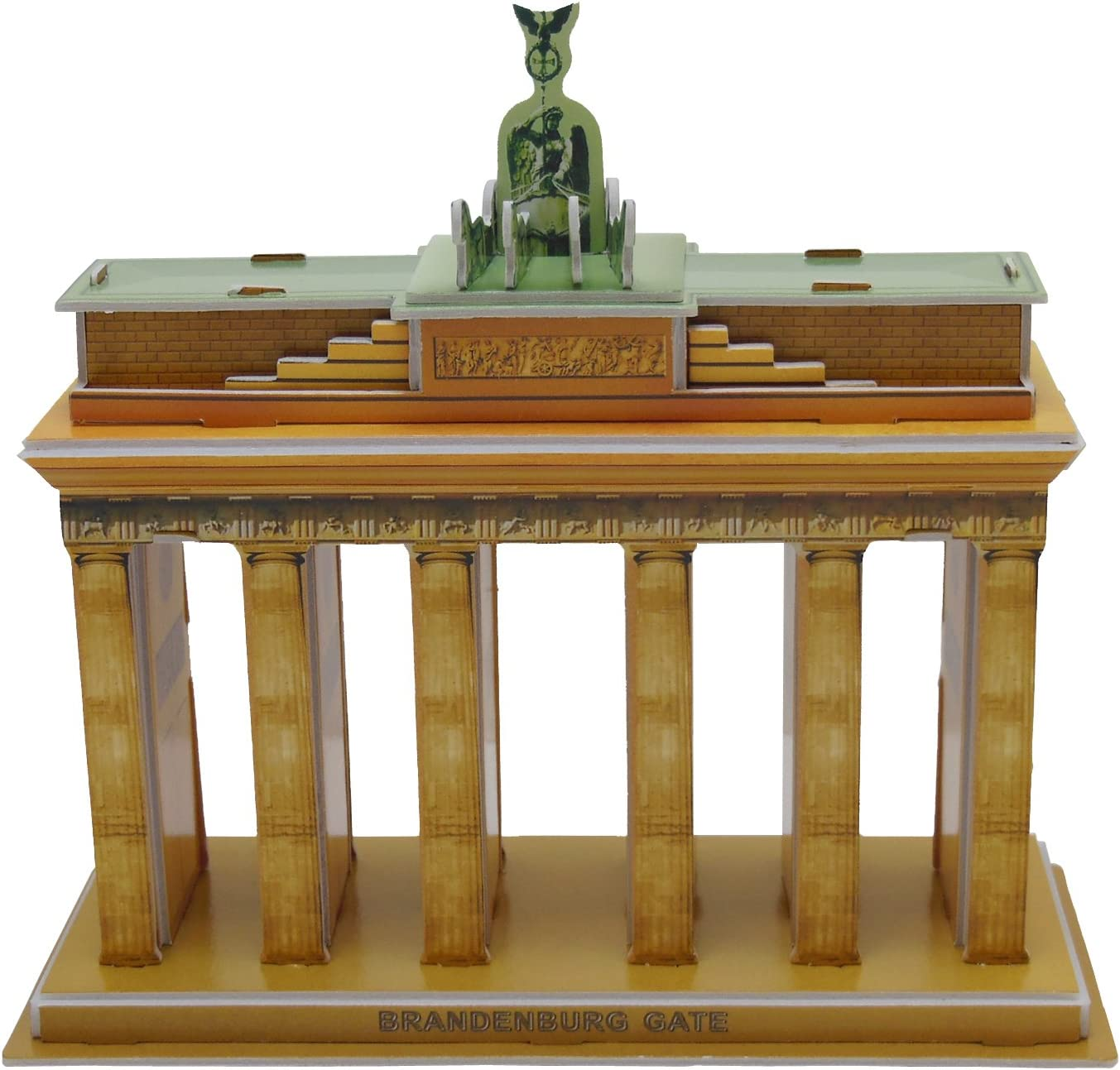Runsong Creative 3D Puzzle Paper Model Brandenburg Gate DIY Fun & Educational Toys World Great Architecture Series, 32 Pcs