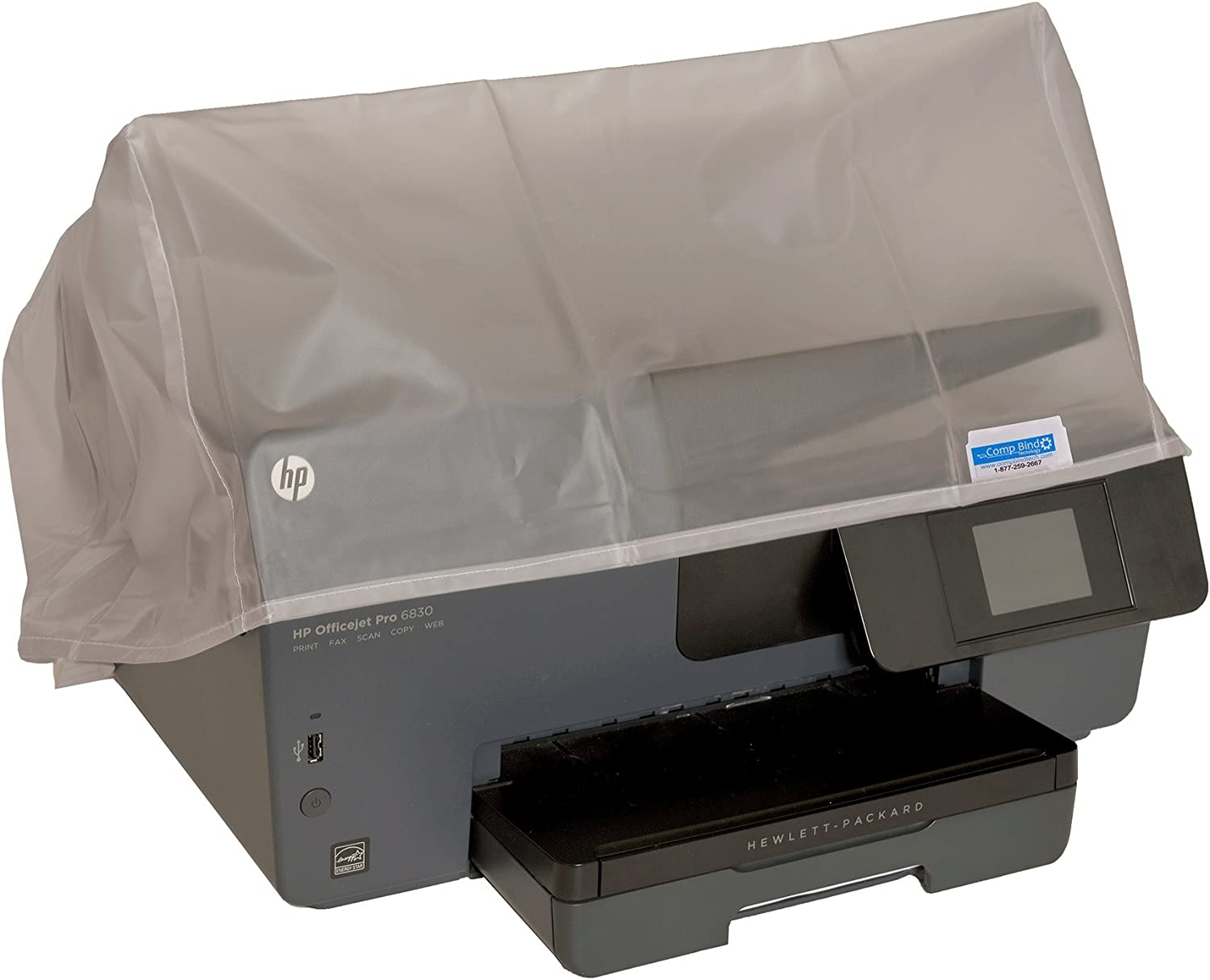 Comp Bind Technology Dust Cover for Epson Expression XP-7100 Wireless Color Printer Clear Vinyl Anti-Static Dust Cover Dimensions 15.4W x 13.3D x 7.5H
