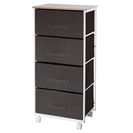 ID SPACE Mueble para almacenaje con Ruedas y 4 cajones - Práctico y de diseño -