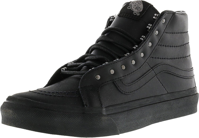 Vans Unisex-Erwachsene Sk8-Hi Slim Hohe Sneakers  50|(Rivets) Gunmetal/Black