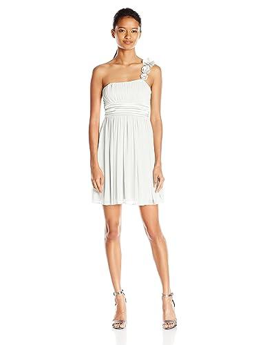 My Michelle Juniors' One Shoulder Short Prom Dress