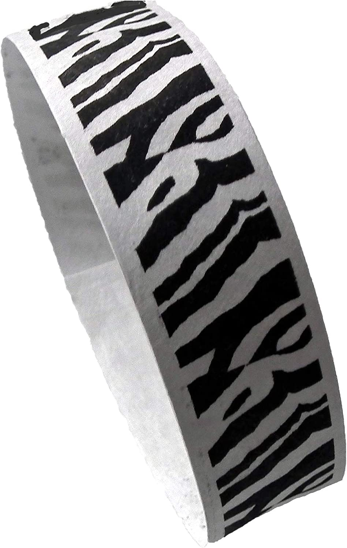 100 x Tyvek-Kontrollb/änder weiss schwarz bedruckt ZEBRAS