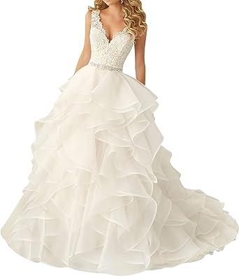 VKStar® Robe de Mariée Princesse Dentelle