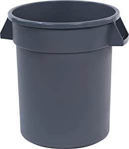 Carlisle 34102023 Bronco Round Waste Container Only, 20 Gallon, Gray