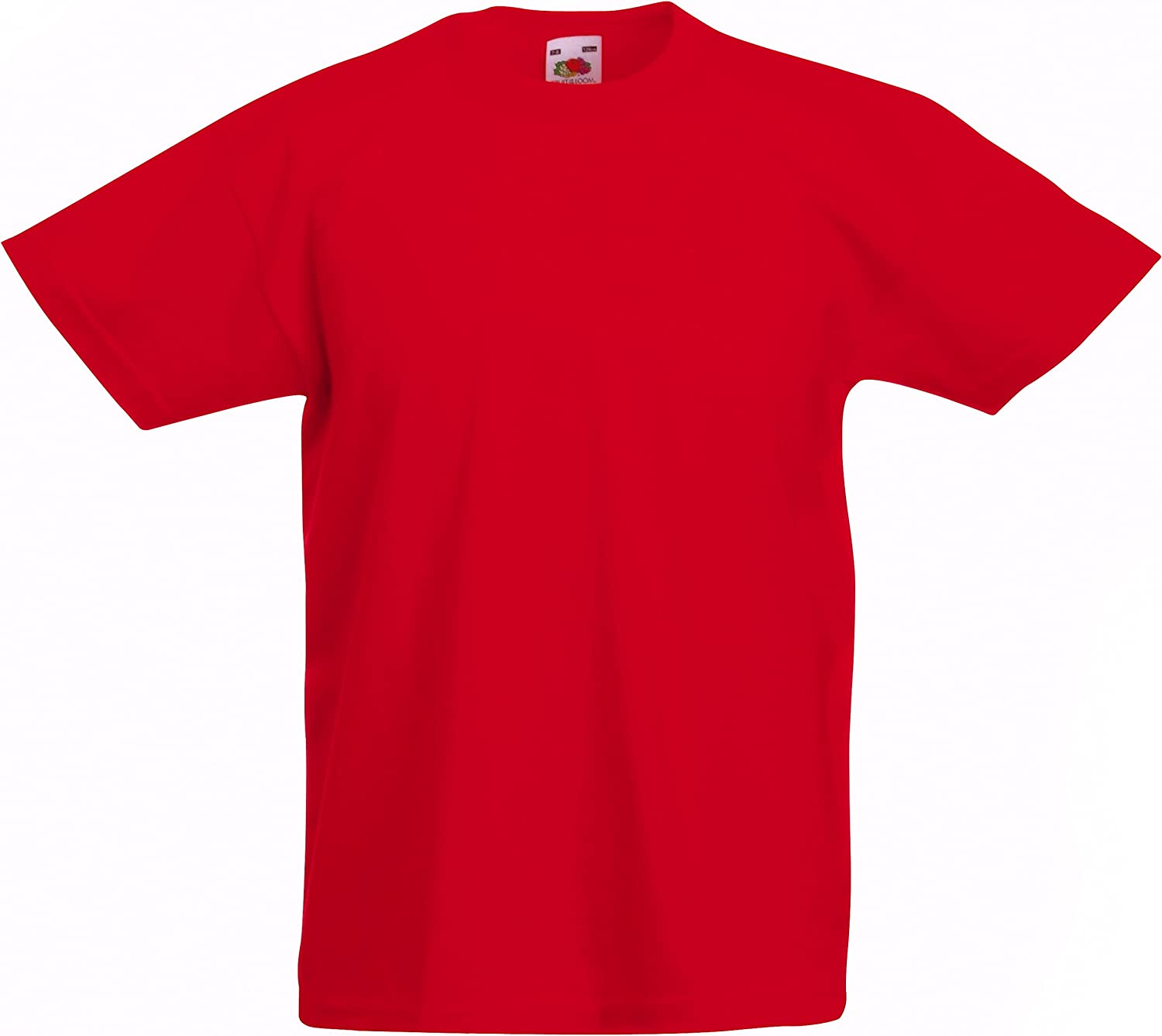 Fruit of the Loom Childrens T Shirt in Red