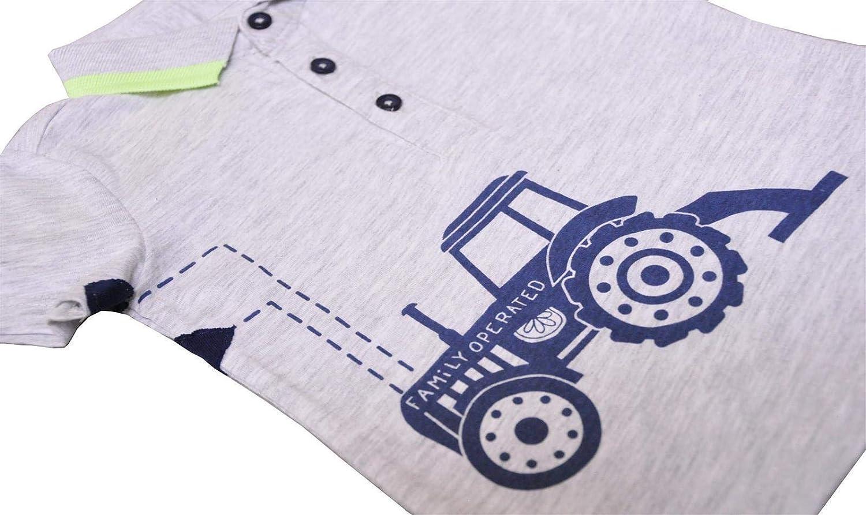 Lemon Beret Baby-Jungen Polo Shirt Traktor