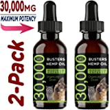 K2xLabs Max Potency Buster's Organic Hemp Oil & Treats for Dogs & Cats - Perfect Ratio Omega 3 & 6 - Made in USA - Hip…