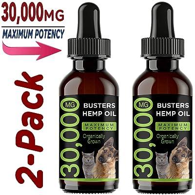 K2xLabs Max Potency Buster's Organic Hemp Oil & Treats