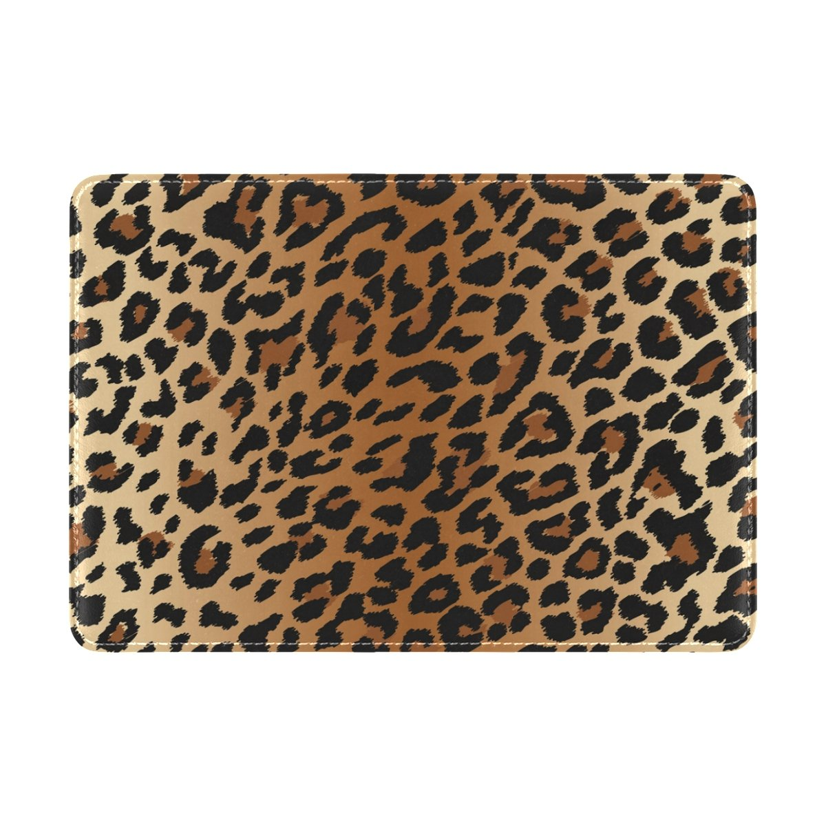 e3615c46208d Sexy Leopard Grain Genuine Leather UAS Passport Holder Travel Wallet Cover  Case