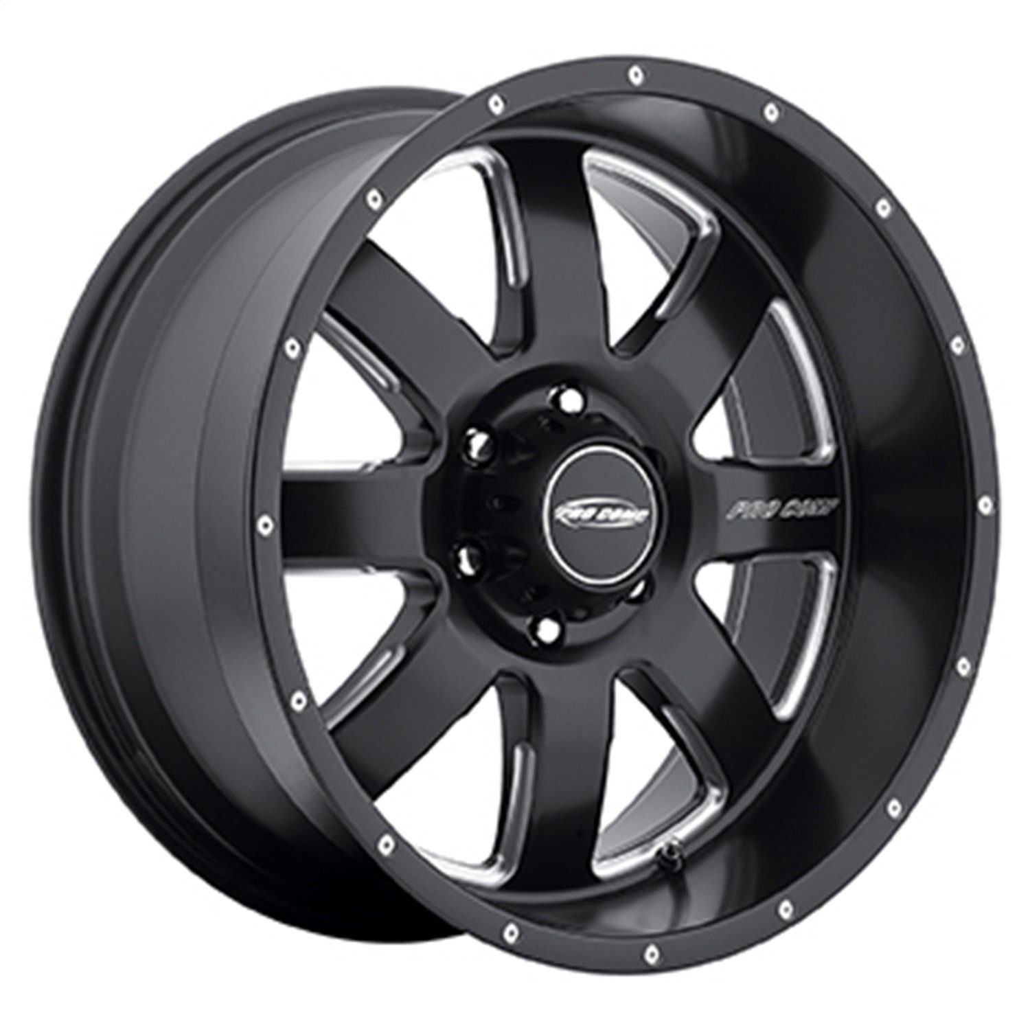 20x9.5//6x135mm Pro Comp Alloys Series 83 Vapor Matte Black Wheel with Milled Accents