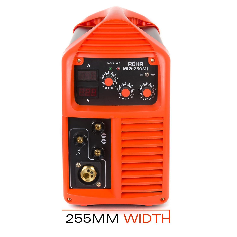 R/öhr MIG//onduleur MMA Poste /à souder MIG-250MI avec//sans gaz 3 en 1 240 V 250 A DC technologie IGBT
