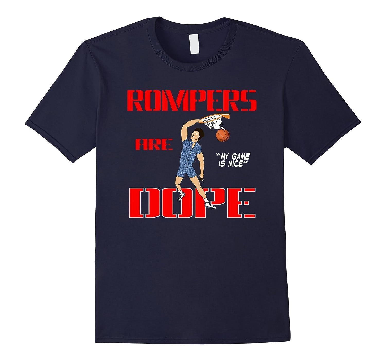 Basketball Romper Shirt - Slam Dunk Mens Romper T-Shirt-Vaci