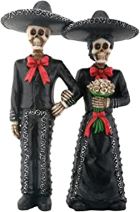 YTC Mariachi Skeleton Couple Holding Hands